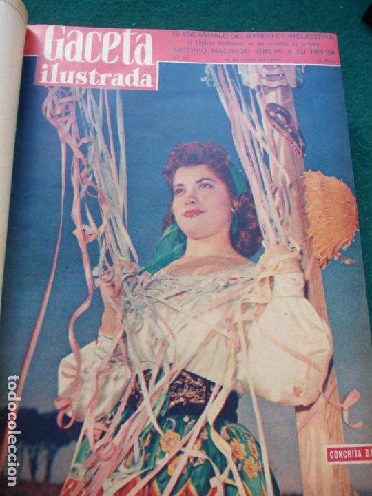 Coleccionismo de Revista Gaceta Ilustrada: LOTE DE REVISTAS GACETA ILUSTRADA DESDE ENERO A JUNIO DE 1.958 ENCUADERNADAS - Foto 24 - 202306140
