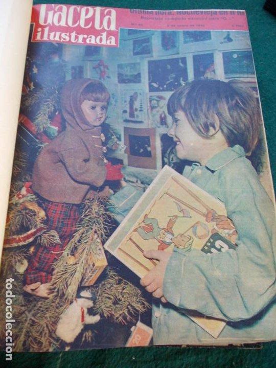 Coleccionismo de Revista Gaceta Ilustrada: LOTE DE REVISTAS GACETA ILUSTRADA DESDE ENERO A JUNIO DE 1.958 ENCUADERNADAS - Foto 25 - 202306140