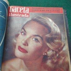 Coleccionismo de Revista Gaceta Ilustrada: LOTE DE REVISTAS GACETA ILUSTRADA DESDE ENERO A JUNIO DE 1.958 ENCUADERNADAS. Lote 202306140