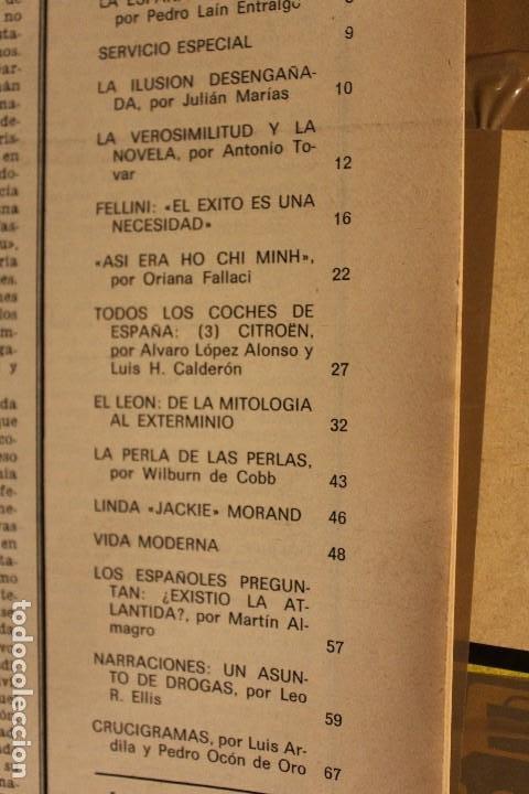 Coleccionismo de Revista Gaceta Ilustrada: GACETA ILUSTRADA Nº 676 AÑO 1969 / HO CHI MINH FELLINI CITROEN PERLAS LINDA JACKIE LEON ATLANTIDA - Foto 3 - 203010127