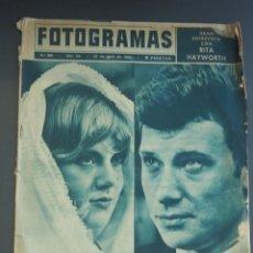 Coleccionismo de Revista Gaceta Ilustrada: JOHNNY HALLYDAY SYLVIE VARTAN FOTOGRAMAS (16-4-1965). Lote 204612773