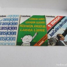 Coleccionismo de Revista Gaceta Ilustrada: GRAN LOTE DE 3 REVISTAS CAMB16 AÑ0 1975 / NO. 206 Y NO. 207 Y NO. 208 / BUEN ESTADO / VER FOTOS. Lote 204777231