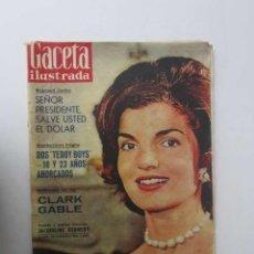 Coleccionismo de Revista Gaceta Ilustrada: GACETA ILUSTRADA - LA MUERTE DE CLAK GABLE, JACQUELINE KENNEDY.... Lote 205087621