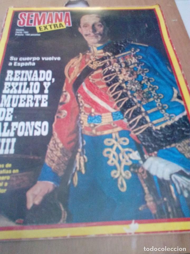 REVISTA SEMANA EXTRA. MADRID ENERO 1980. REINADO, EXILIO Y MUERTE DE ALFONSO XIII. EST2B4 (Coleccionismo - Revistas y Periódicos Modernos (a partir de 1.940) - Revista Gaceta Ilustrada)