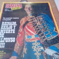 Coleccionismo de Revista Gaceta Ilustrada: REVISTA SEMANA EXTRA. MADRID ENERO 1980. REINADO, EXILIO Y MUERTE DE ALFONSO XIII. EST2B4. Lote 205730960