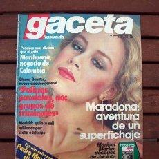 Coleccionismo de Revista Gaceta Ilustrada: GACETA ILUSTRADA / MARIBEL MARTIN, PEDRO MARIN, MARIA JIMENEZ, PLASENCIA, MARADONA, MARIHUANA. Lote 207191702