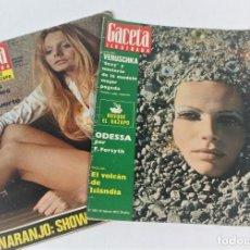 Coleccionismo de Revista Gaceta Ilustrada: LOTE 2 REVISTAS LA GACETA ILUSTRADA. Lote 207414073