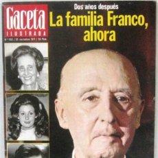 Collectionnisme de Magazine Gaceta Ilustrada: GACETA ILUSTRADA Nº 1102 - 20 NOVIEMBRE 1977 - REVISTA. Lote 208226195
