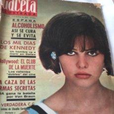 Coleccionismo de Revista Gaceta Ilustrada: GACETA ILUSTRADA- 474- NOV.1965- USADO. Lote 210944824