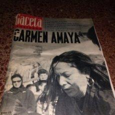 Coleccionismo de Revista Gaceta Ilustrada: GACETA ILUSTRADA NUM 372. 23 NOVIEMBRE 1963.CARMEN AMAYA. Lote 211570485