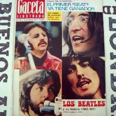 Coleccionismo de Revista Gaceta Ilustrada: GACETA ILUSTRADA ESPECIAL THE BEATLES, APOLO 13, HELGA LINE. Lote 212981677