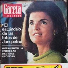 Coleccionismo de Revista Gaceta Ilustrada: REVISTA GACETA ILUSTRADA Nº 849 JACQUELINE KENNEDY HITLER HITCHCOCK HIPPYES TRAGEDIA ANDES VUELO 571. Lote 213534988