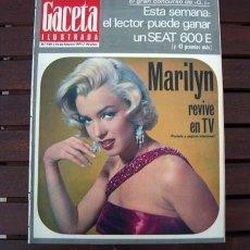 Collectionnisme de Magazine Gaceta Ilustrada: GACETA ILUSTRADA / MARILYN MONROE / MUNICH 1972. Lote 215828798