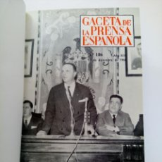 Coleccionismo de Revista Gaceta Ilustrada: GACETA DE LA PRENSA ESPAÑOLA NÚMEROS DEL 186 AL 198 ENCUADERNACIÓN DE LUJO LOMO DE PIEL. Lote 216691656