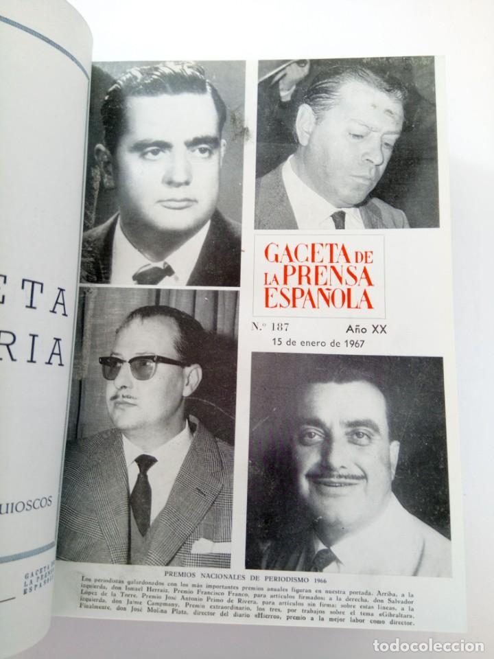 Coleccionismo de Revista Gaceta Ilustrada: GACETA DE LA PRENSA ESPAÑOLA NÚMEROS DEL 186 AL 198 ENCUADERNACIÓN DE LUJO LOMO DE PIEL - Foto 2 - 216691656