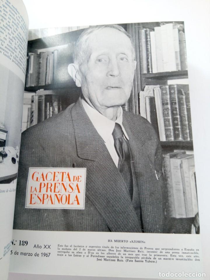Coleccionismo de Revista Gaceta Ilustrada: GACETA DE LA PRENSA ESPAÑOLA NÚMEROS DEL 186 AL 198 ENCUADERNACIÓN DE LUJO LOMO DE PIEL - Foto 3 - 216691656