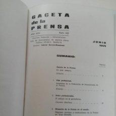 Coleccionismo de Revista Gaceta Ilustrada: GACETA DE LA PRENSA ESPAÑOLA NÚMEROS DEL 225 AL 238 ENCUADERNACIÓN DE LUJO LOMO DE PIEL. Lote 216692280