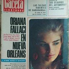 Collectionnisme de Magazine Gaceta Ilustrada: GACETA ILUSTRADA -- Nº 548 -- 8/ 04/ 1967 -- ORIANA FALLACI. Lote 217405938