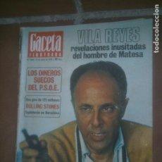 Coleccionismo de Revista Gaceta Ilustrada: GACELA ILUSTRADA - REVISTA Nº 1026 - ROLLING STONES.JULIO 1976. Lote 218510393