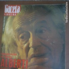 Coleccionismo de Revista Gaceta Ilustrada: GACELA ILUSTRADA - REVISTA Nº 1052 RAFAEL ALBERTI - 1972. Lote 218511363