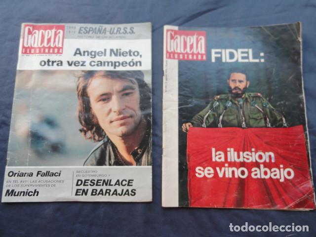 2 REVISTAS GACETA ILUSTRADA. AÑO 1970 Y 1972. (Coleccionismo - Revistas y Periódicos Modernos (a partir de 1.940) - Revista Gaceta Ilustrada)