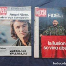 Coleccionismo de Revista Gaceta Ilustrada: 2 REVISTAS GACETA ILUSTRADA. AÑO 1970 Y 1972.. Lote 218835498