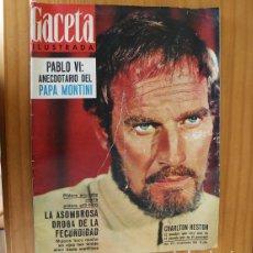 Coleccionismo de Revista Gaceta Ilustrada: GACETA ILUSTRADA 467, SEPTIEMBRE 1965. CHARLTON HESTON, PAPA PABLO VI, ROMY SCHNEIDER.... Lote 218949922