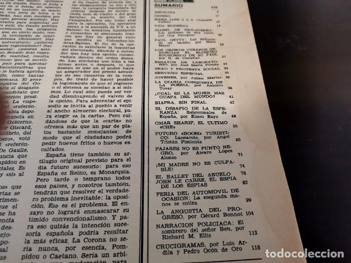 Coleccionismo de Revista Gaceta Ilustrada: REVISTA GACETA ILUSTRADA 658 AÑO 1969 SUBNORMALES DE ESPAÑA, OMAR SHARIF EL ÚLTIMO CHE, BIAFRA - Foto 2 - 218990782