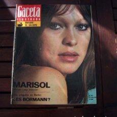 Coleccionismo de Revista Gaceta Ilustrada: GACETA ILUSTRADA / MARISOL, PEPA FLORES / MARIA SCHNEIDER. Lote 221276632