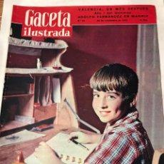 Coleccionismo de Revista Gaceta Ilustrada: GACETA ILUSTRADA NOVIEMBRE 1957 PABLITO CLAVO. RIADA EN VAÑLENCIA. Lote 221439650