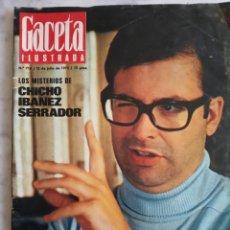 Coleccionismo de Revista Gaceta Ilustrada: REVISTA GACETA ILUSTRADA - CHICHO IBAÑEZ SERRADOR - LA TUMBA DE MARATON - SEAT 850 -. Lote 222046171