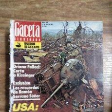 Coleccionismo de Revista Gaceta Ilustrada: MFF.- REVISTA GACETA ILUSTRADA.- Nº 966 - 13 ABRIL 1975.- IRAN: EL DULCE OLOR DEL EXITO.- CARTA DE. Lote 222073105