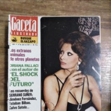 Coleccionismo de Revista Gaceta Ilustrada: MFF.- GACETA ILUSTRADA.- Nº 968 - 27 ABRIL 1975.- SOFIA LOREN, LA BELLA DIVORCIADA?.- ALVIN TOFFLER.. Lote 222118585