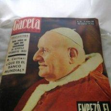 Coleccionismo de Revista Gaceta Ilustrada: AÑO 1962, LA GACETA ILUSTRADA,N°314,OCTUBRE, INTERESANTE PUBLICIDAD.. Lote 223453340