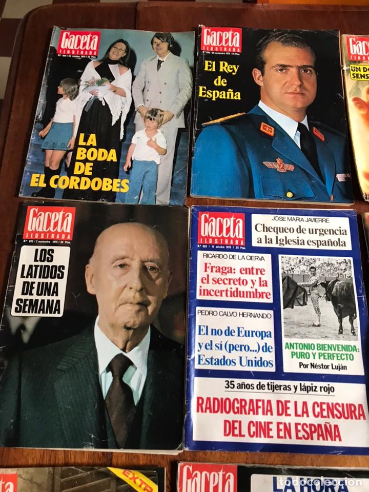 Coleccionismo de Revista Gaceta Ilustrada: Lote de 11 revistasGaceta Ilustrada 1975 y regalo - Foto 2 - 223816635