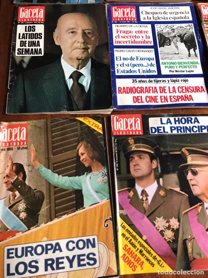 Coleccionismo de Revista Gaceta Ilustrada: Lote de 11 revistasGaceta Ilustrada 1975 y regalo - Foto 3 - 223816635