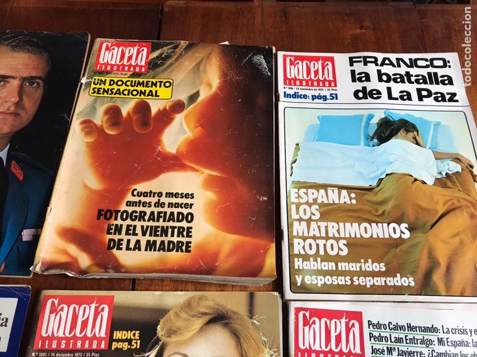 Coleccionismo de Revista Gaceta Ilustrada: Lote de 11 revistasGaceta Ilustrada 1975 y regalo - Foto 4 - 223816635