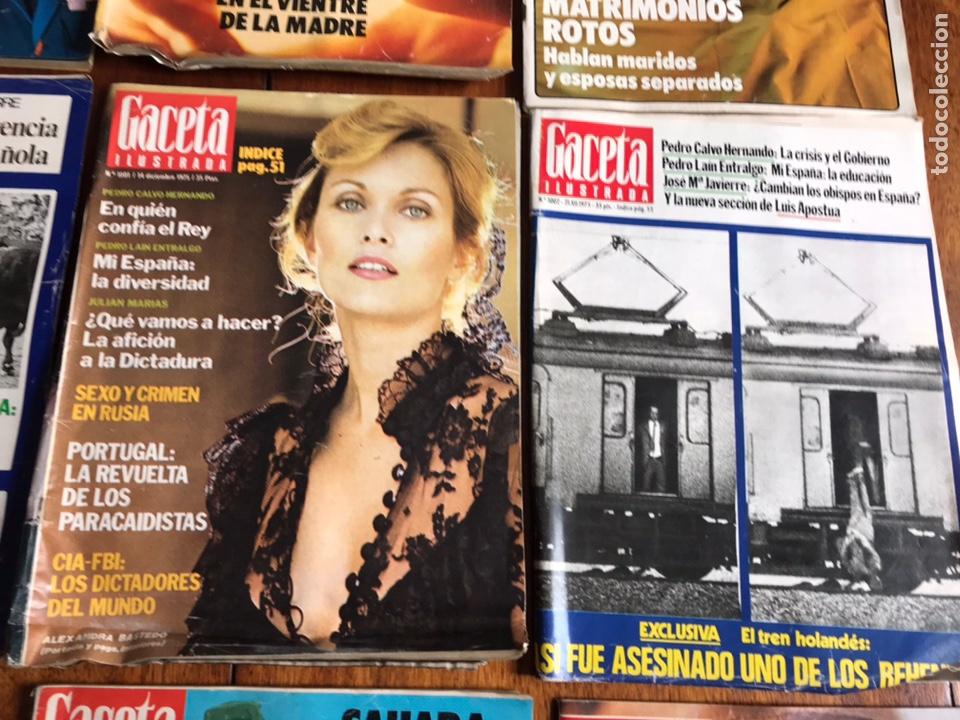 Coleccionismo de Revista Gaceta Ilustrada: Lote de 11 revistasGaceta Ilustrada 1975 y regalo - Foto 5 - 223816635