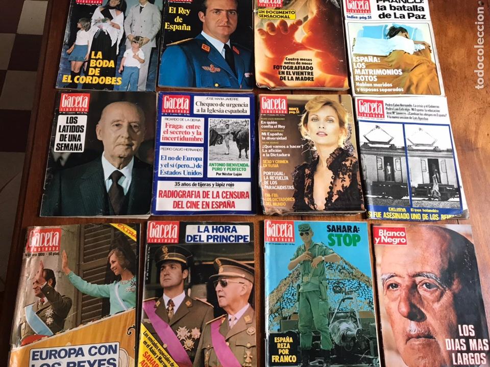 LOTE DE 11 REVISTASGACETA ILUSTRADA 1975 Y REGALO (Coleccionismo - Revistas y Periódicos Modernos (a partir de 1.940) - Revista Gaceta Ilustrada)