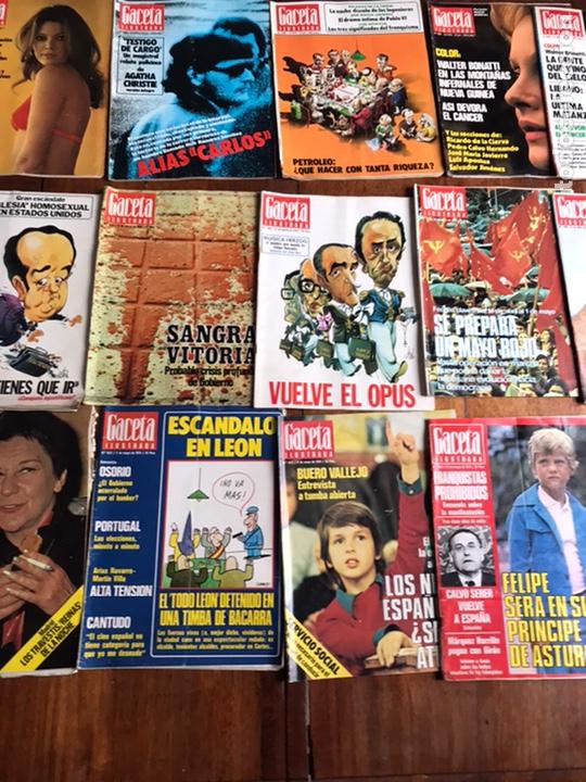 Coleccionismo de Revista Gaceta Ilustrada: Lote de 43,revistas Gaceta Ilustrada 1976 y regalo - Foto 3 - 223817518