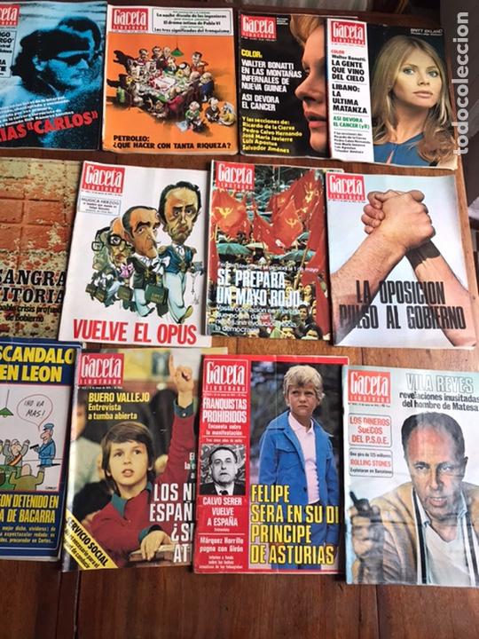 Coleccionismo de Revista Gaceta Ilustrada: Lote de 43,revistas Gaceta Ilustrada 1976 y regalo - Foto 4 - 223817518