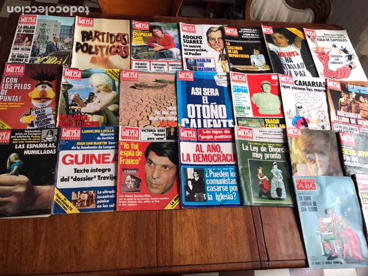 Coleccionismo de Revista Gaceta Ilustrada: Lote de 43,revistas Gaceta Ilustrada 1976 y regalo - Foto 5 - 223817518