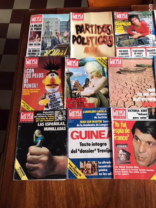 Coleccionismo de Revista Gaceta Ilustrada: Lote de 43,revistas Gaceta Ilustrada 1976 y regalo - Foto 6 - 223817518