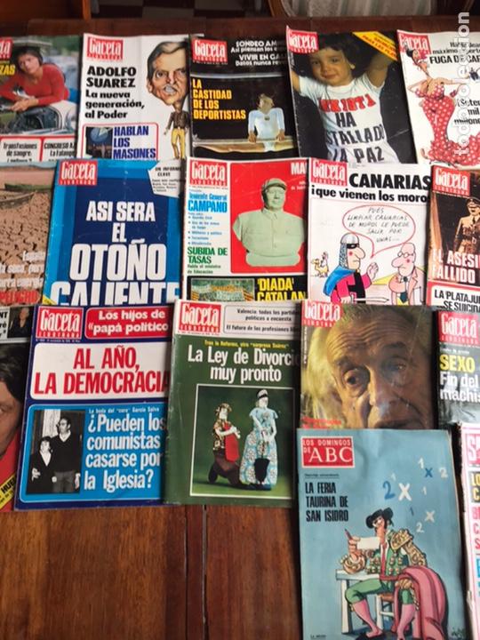 Coleccionismo de Revista Gaceta Ilustrada: Lote de 43,revistas Gaceta Ilustrada 1976 y regalo - Foto 7 - 223817518