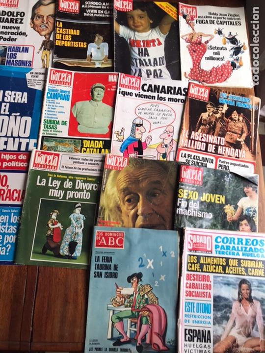 Coleccionismo de Revista Gaceta Ilustrada: Lote de 43,revistas Gaceta Ilustrada 1976 y regalo - Foto 8 - 223817518
