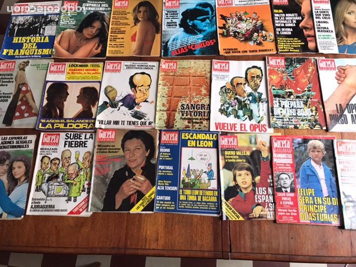 LOTE DE 43,REVISTAS GACETA ILUSTRADA 1976 Y REGALO (Coleccionismo - Revistas y Periódicos Modernos (a partir de 1.940) - Revista Gaceta Ilustrada)