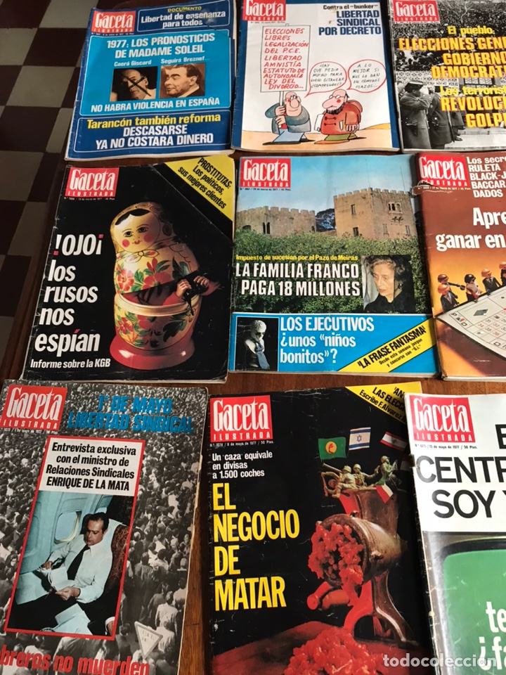 Coleccionismo de Revista Gaceta Ilustrada: Lote de 43 revistas Gaceta Ilustrada 1977 - Foto 2 - 223818097