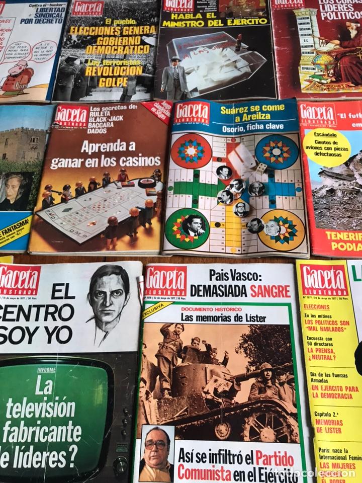 Coleccionismo de Revista Gaceta Ilustrada: Lote de 43 revistas Gaceta Ilustrada 1977 - Foto 3 - 223818097