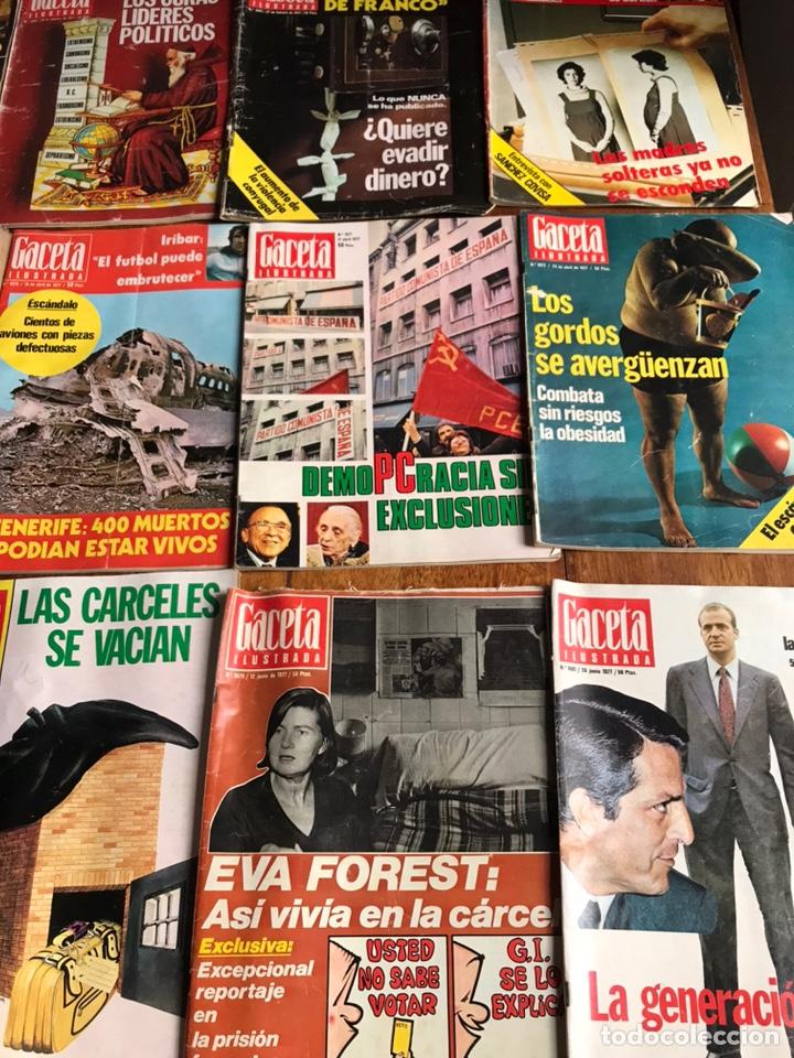 Coleccionismo de Revista Gaceta Ilustrada: Lote de 43 revistas Gaceta Ilustrada 1977 - Foto 4 - 223818097