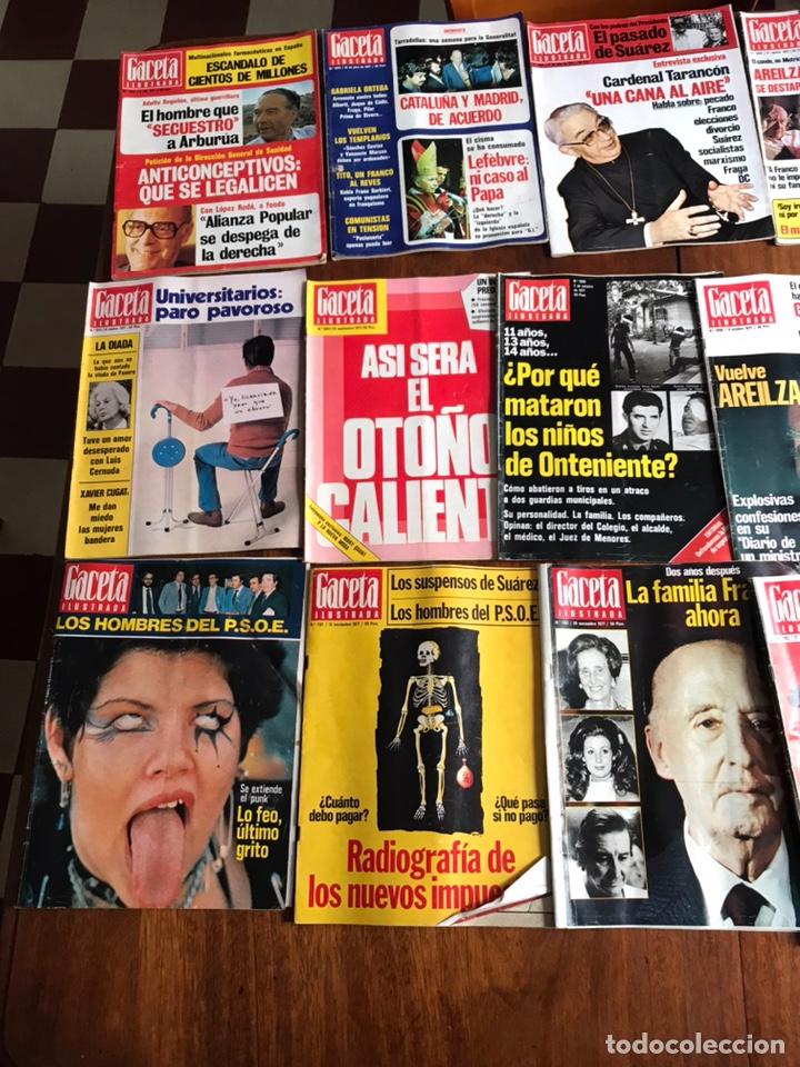 Coleccionismo de Revista Gaceta Ilustrada: Lote de 43 revistas Gaceta Ilustrada 1977 - Foto 6 - 223818097